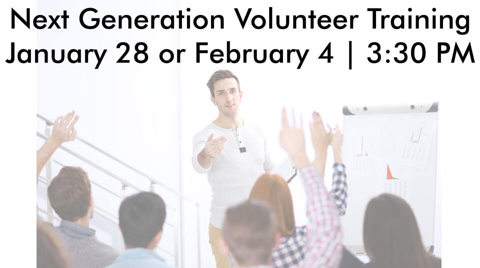 Next Generation Volunteer Training