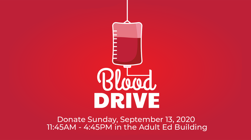 Blood Drive Sept 13, 2020